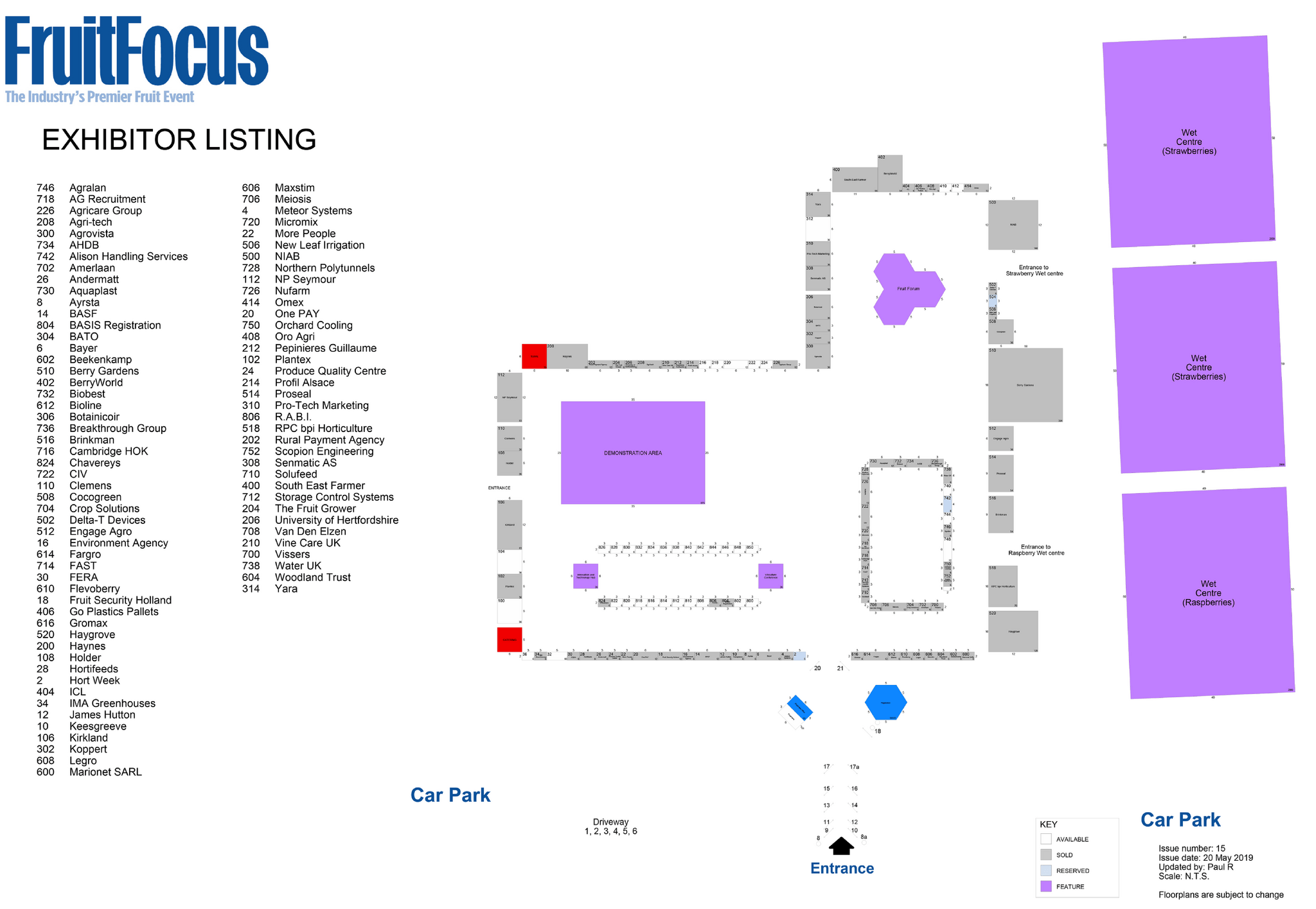 Fruit Focus 2019 Event Map